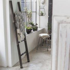 Bamboo Linen Rack black