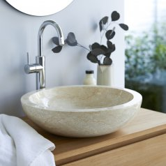 Calypso Cream marble washbasin