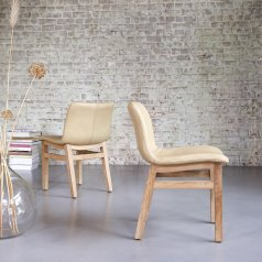 Chaise Cocoon en chêne