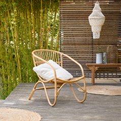 Chaise outdoor en rotin Mutine naturel