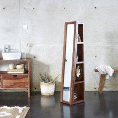 Colonne miroir oblique en palissandre 30 Twig