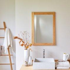 Espejo de teca Bahya Solo 70x50