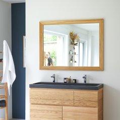 Espejo de teca Tona no tratada 120x90