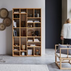 Eyota Oak Bookcase 130x220