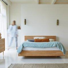 Flat Teak Bed 160x200