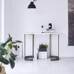 Gustav Marble and Metal Console 120