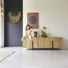 Honorine 165 low teak sideboard