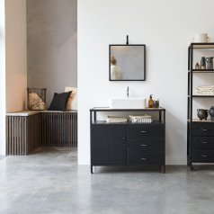 Industriel Metal and Mango Vanity Cabinet 95