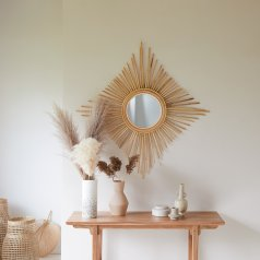 Isidore Rattan Mirror 80 natural
