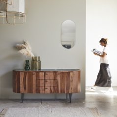 Jade Rosewood and Marble Sideboard 175