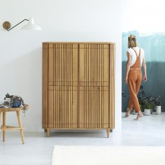 Koppar oak storage cupboard 145