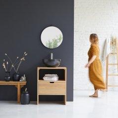 Kwarto Oak vanity cabinet 60