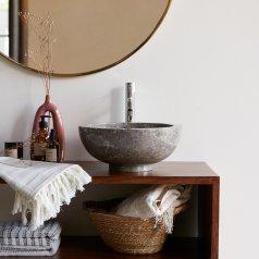 Lavabo de mármol Bahya Grey