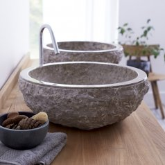 Lavabo de mármol Scrula Grey