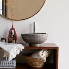 Lavabo in Marmo Bahya Grey