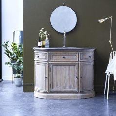 Louise Oak and stone Vanity Cabinet 110