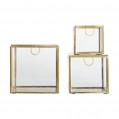 Macha Gold Glass Box