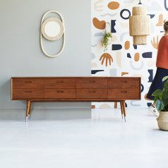 Magda 50's Teak Chest of 8 Drawers