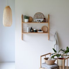 Marius Rattan Bathroom Wall Shelf
