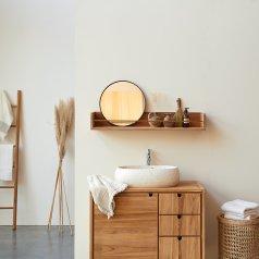 Mensola a parete da bagno in teak Sasha 100