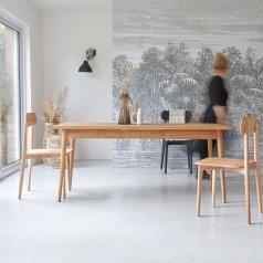 Mesa de comedor 180x80 en teca Jonàk