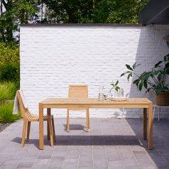 Mesa para exteriores en Teca 180 Teo