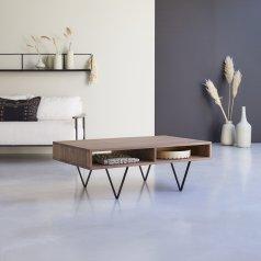 Metric walnut coffee table 115 x 70 cm