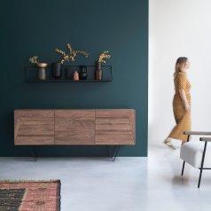Metric walnut sideboard 175 cm