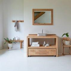 Meuble Salle de bain en teck brut 120 Layang