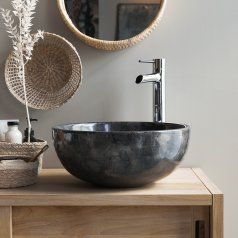 Mia dark Grey marble basin