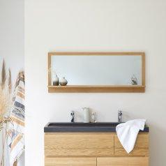 Miroir en chêne Easy 120x50