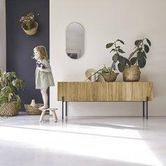 Mueble alto TV de teca 170 Honorine