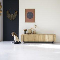 Mueble bajo TV de teca 170 Honorine
