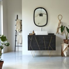 Mueble de baño en madera de mango 100 Liv