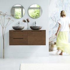 Mueble de baño suspendido de teca 120 Romeo