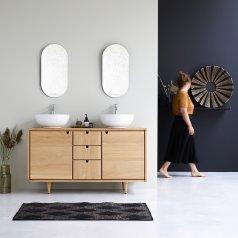Mueble de lavabo de roble 145 Jonàk Oak