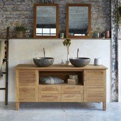 Mueble de lavabo de teca 165 Soho