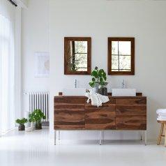 Mueble de lavabo en palisandro 155 Nova
