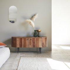 Mueble de TV en palisandro y mármol 130 Jade