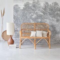 Natural Rattan Double Armchair
