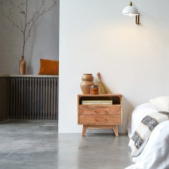 Oslo acacia Bedside Table