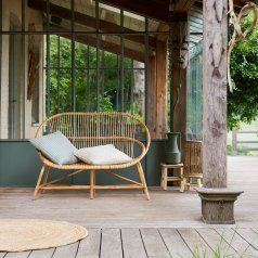 Outdoor Bank aus Rattan Leontie