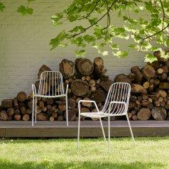 Outdoor Lehnstuhl aus Metall Arty White