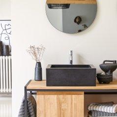 Pegase Terrazzo Washbasin 42 black