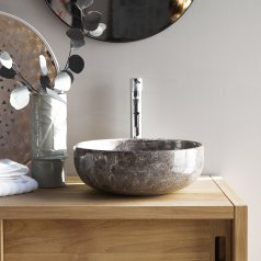 Pia Light Grey marble wasbasin