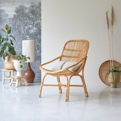 Pia natural Rattan Armchair