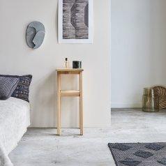Pola high oak bedside table