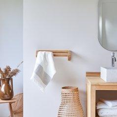 Porte serviette en teck brut Kayu