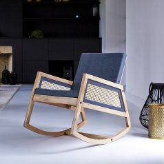 Rocking chair en manguier Rafael