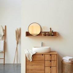 Sasha Teak Bathroom Shelf 100